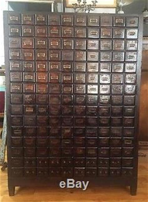Amazing 150 Multi Drawer Antique Vintage Cabinet By Chas P