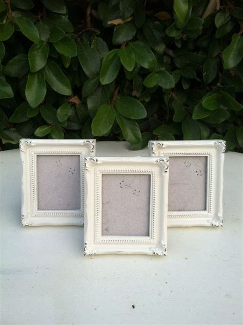 shabby chic table number holders place card holders table number frames set of 6 shabby chic white distressed mini frames