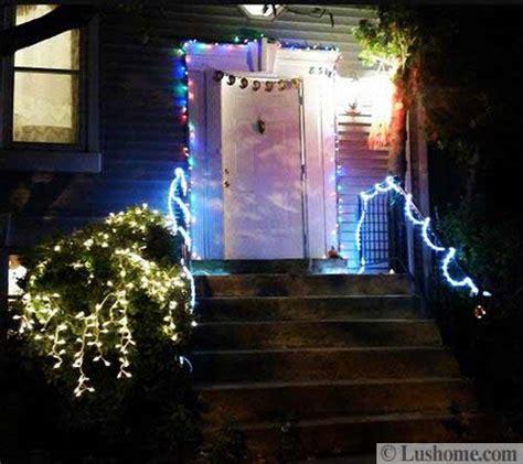 inspiring outdoor lights  door decorations  winter