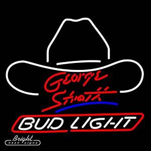 Neon Budlight Beer Sign featuring George Strait only $299