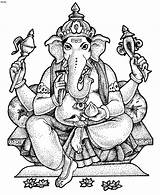 Coloring Colouring Ganesh Lord Printable Ganesha God Tattoo Adult Doodle Shree Printablecolouringpages Pen Elefante sketch template