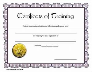 5 training certificate templates blank certificates for Blank training certificate