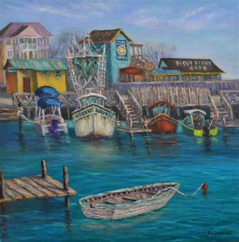 Boat R Gulf Harbour by Palomares Coastal And Nature Paintings