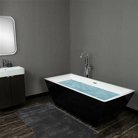 Bathroom Soaker Tubs by Luxury Square Soaking Bathtub Acrylic White Pedestal