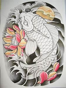 Koi Fish Tattoo Drawing Design at GetDrawings | Free download