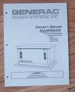 Generac Guardian Standby Generator Owners Manual No  2
