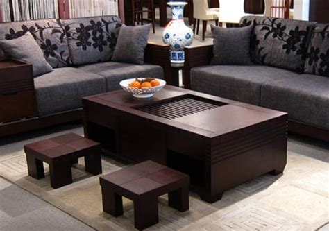 Oriental Coffee Table-zen Living Room Inspiration