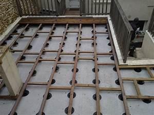 Terrasse Bois Sur Plot Beton : pose terrasse bois composite sur dalle beton 2 terrasse ~ Premium-room.com Idées de Décoration