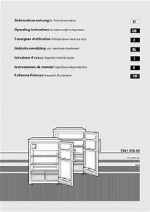 Liebherr Kt 1740 Fridge   Refrigerator Download Manual For