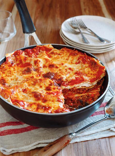 abonnement cuisine et vins de lasagne tout en un dans une poêle ricardo