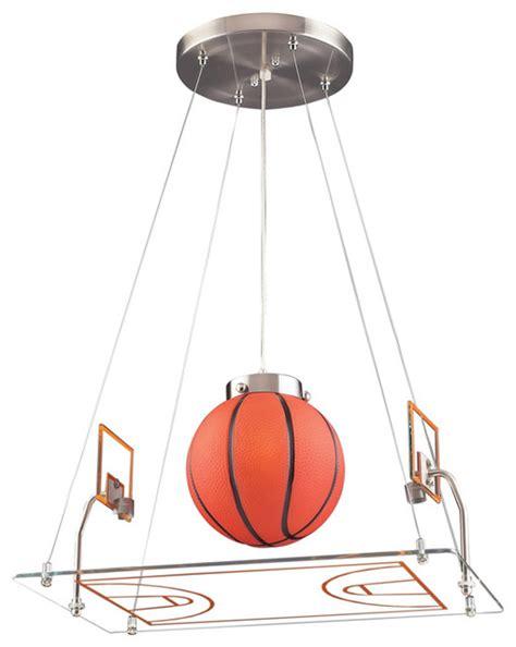 basketball court pendant satin nickel eclectic