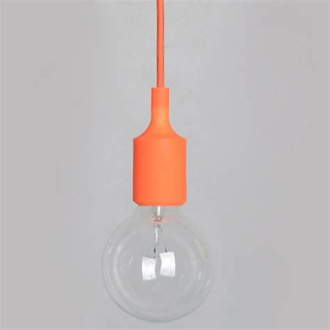 e27 pendant l holder 1xsilicone e27 home ceiling pendant l light bulb holder