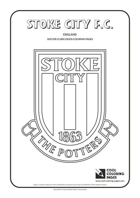 cool coloring pages stoke city fc logo coloring page cool coloring pages  educational