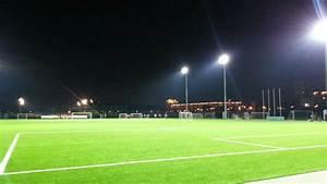 Football beautiful soccer field at night - YouTube