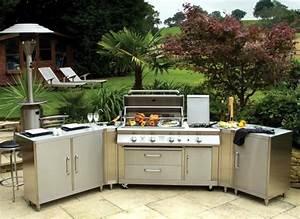 Trendy, Outdoor, Kitchen, Set, Up, In, The, Garden