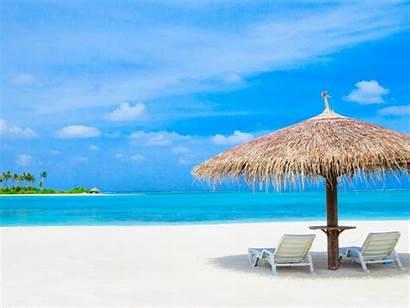 Sun Ocean Summer Beaches Around Maldives Palm