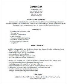 labor and delivery resume sle professional labor and delivery templates to showcase your talent myperfectresume