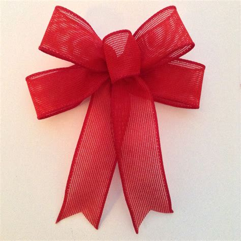 burlap red bows christmas decorative bows small red burlap