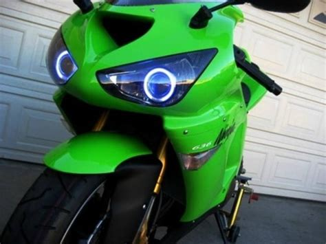 kawasaki zxr   dual hid projector ccfl halo eyes kit