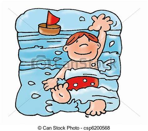 clipart nuoto archivio illustrazioni di ragazzo nuoto con il mare
