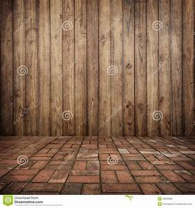 Wood On Wall And Brick Floor For Your Home And For ...