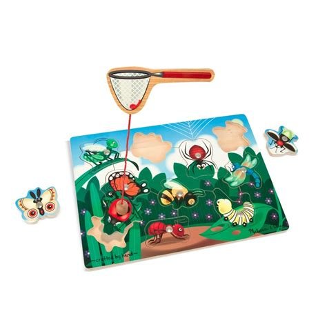 bug catching wooden magnetic puzzle educational toys planet