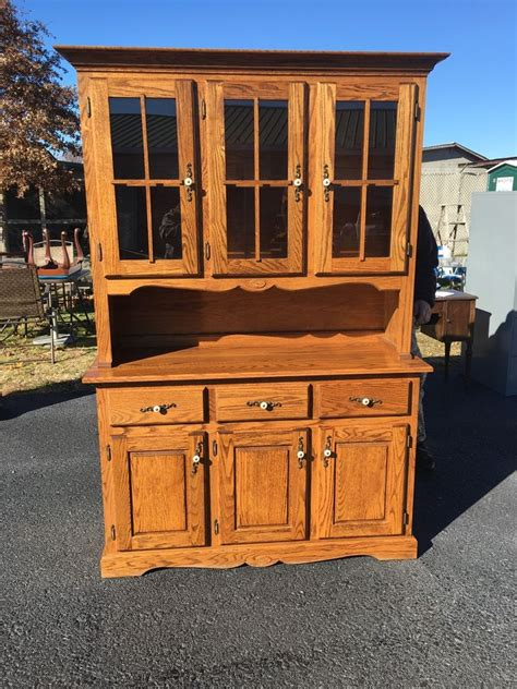 antique oak and glass china cabinet ebay