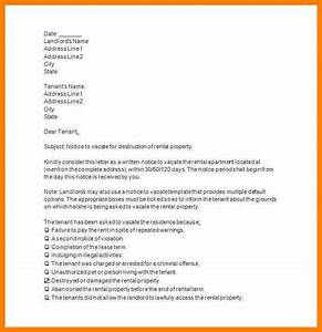 13 template notice to vacate rental property g unitrecors With notice to vacate letter to tenant template