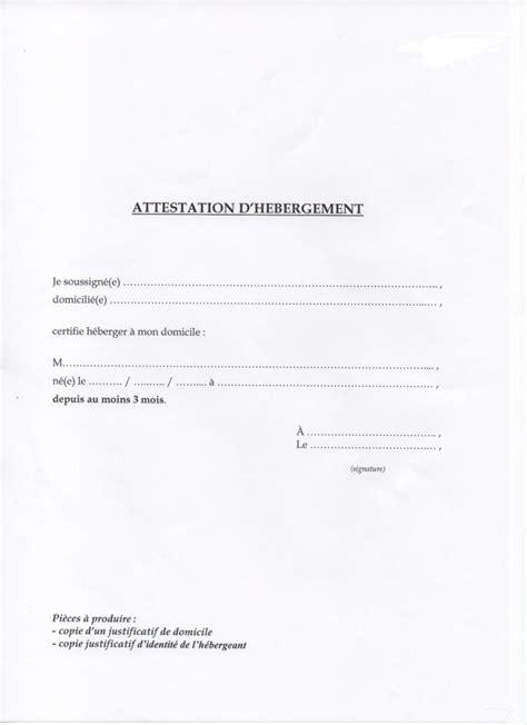 attestation permis de conduire modele attestation hebergement pour permis de conduire a imprimer