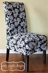 black and white baroque parsons chair from