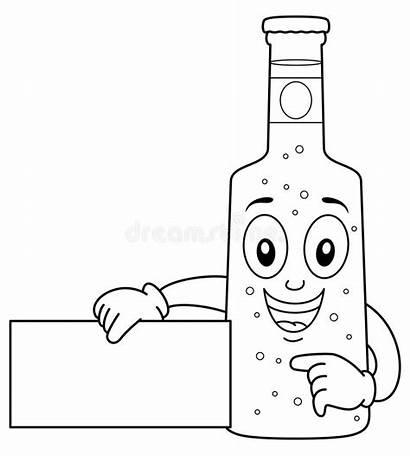 Beer Glass Character Het Bottle Coloring Birra