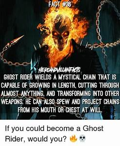 FACT FACT #36 GHOST RIDER WIELDS a MYSTICAL CHAIN THAT IS ...