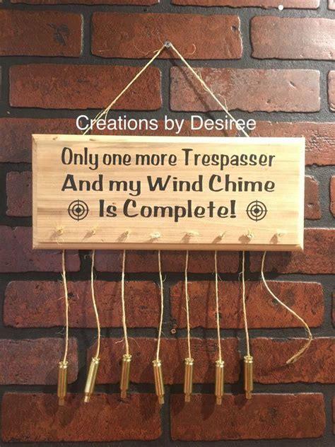 trespasser wind chime  images bullet crafts diy