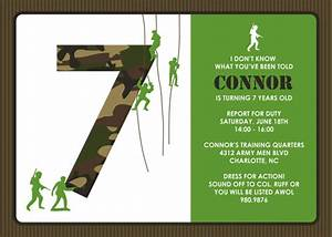 Army birthday invitations gangcraftnet for Camouflage party invitation template
