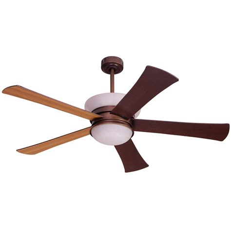 shop allen roth macbay 58 in light rubbed bronze downrod mount ceiling fan with light kit