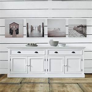 Buffet Blanc Maison Du Monde : buffet en pin blanc l 200 cm maison du monde bois blanc et bord ~ Teatrodelosmanantiales.com Idées de Décoration