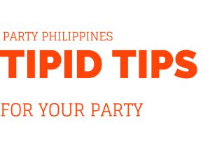 Tipid Tips For Your Party  Jojie's Catering Services Manila