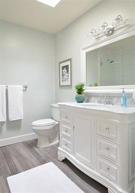 Neutral Bathroom Paint Colors by Grey Blue Paint Brings Serenity To A Neutral