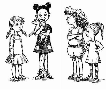 Turns Child Sharing Taking Turn Coloring Pages