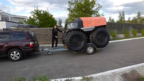 sherp atv loads  trailer   seconds youtube