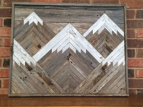 rustic mountain tops single piece reclaimed wood wall art