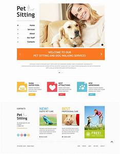 pet sitting responsive website template 48701 With dog sitting sites