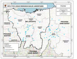 peta titik lokasi rendaman banjir jabodetabek map vision indonesia