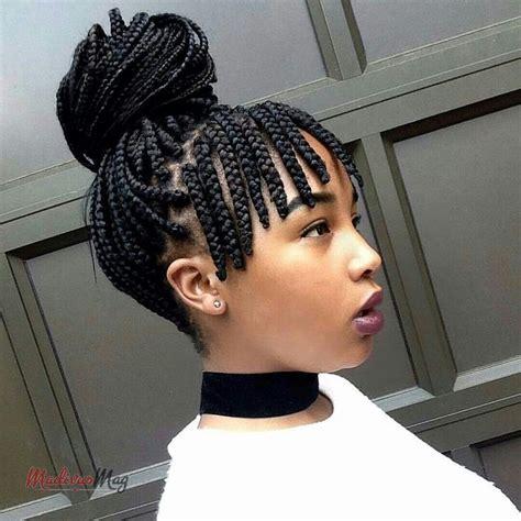 fringe braid boxbraids hairstyles braided hairstyles