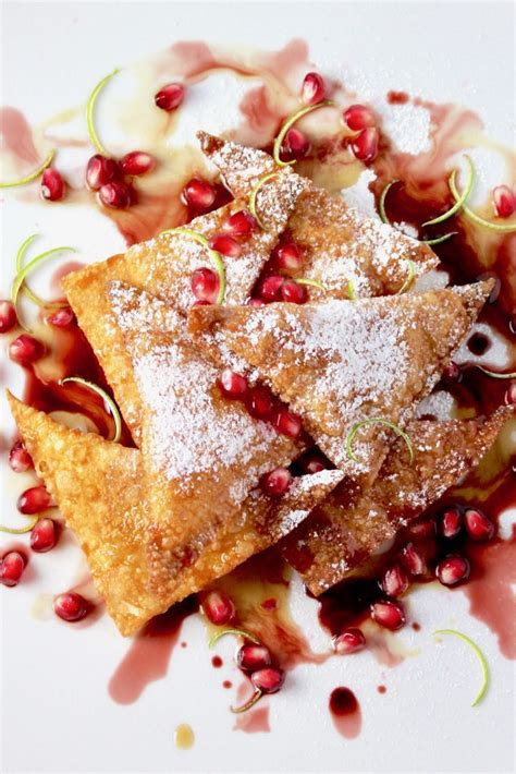 pumpkin ricotta wontons maple pomegranate lime taste