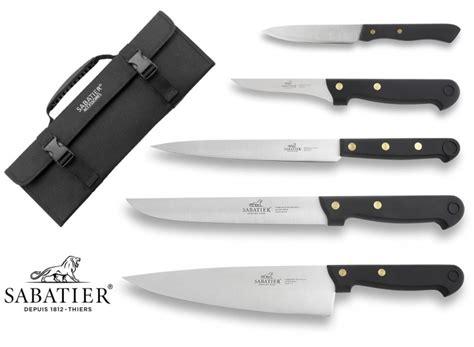 kitchen knives sabatier sabatier knife bag with 5 kitchen knives 100