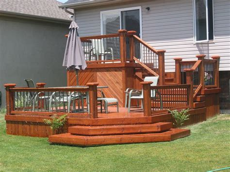 tiered deck ideas  pinterest
