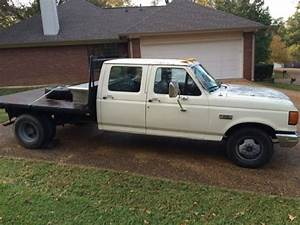 1988 Ford F350 Crew Cab Custom Flatbed With Goose Neck Hookup