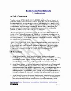 social media policy template With social media policy template for schools