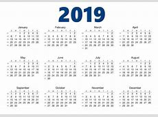 Get Template Yearly Calendar 2019 With UAE [Dubai